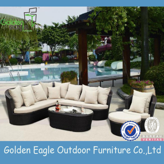 Outdoor Furniture Aluminium Farme Rattan Sofa Set