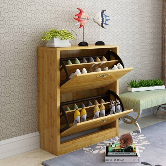 Multifunctional Bamboo Shoe Rack