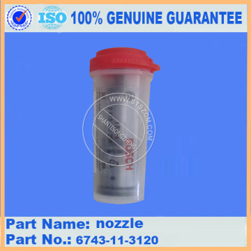 excavator injector nozzle 6743-11-3120 for PC300-7