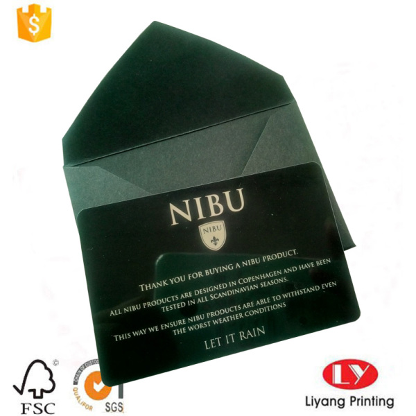Luxury black plastic business card printing