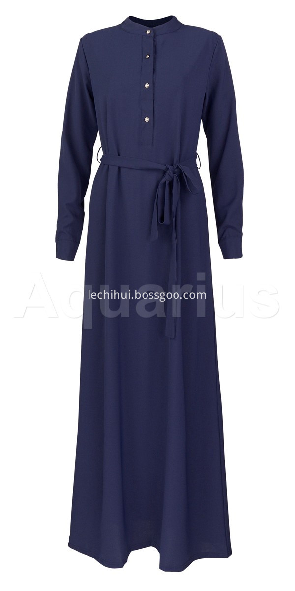 Stretched Crepe Dark Blue Dress