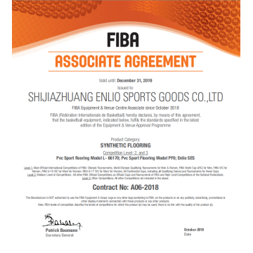 Enlio Brand FIBA Approved SES Basketball Court Tiles