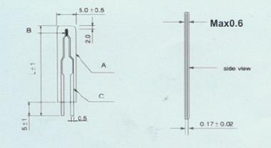 Thermistor Film Type drawing