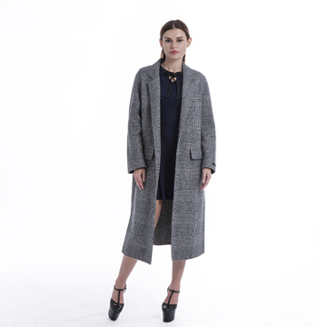 Fashion striped cashmere overcoat