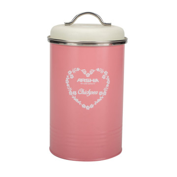 Pink Kitchen Metal Food Container