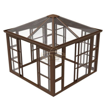 Aluminum Wall Mounted Gazebo Victorian Sunroom Winter Garden