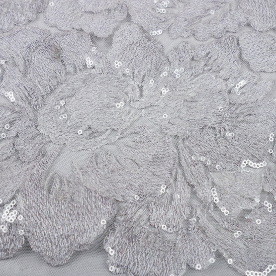 MX390 sequin net embroidery fabric