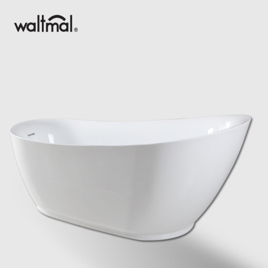 Ellipse Slipper Shape white Free Standing Bathtub