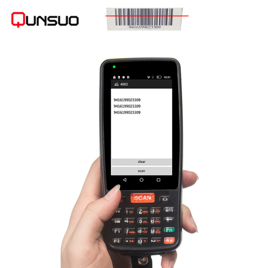 Intelligent rugged smartphone handheld PDA barcode scanner