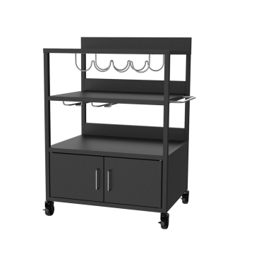 Cold-Rolled Steel Plancha Trolley with Cabinet