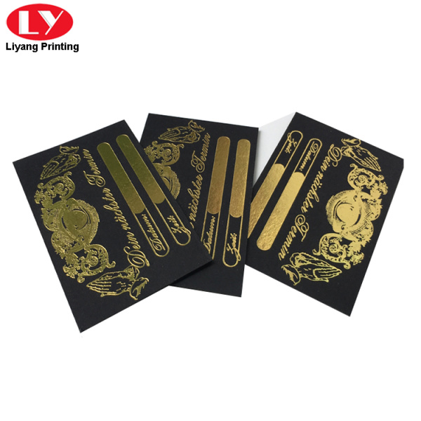 thick gold foil black business cards
