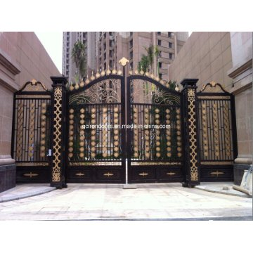 Irnamental Beautiful Wrought Iron Entance Gate for Driveway