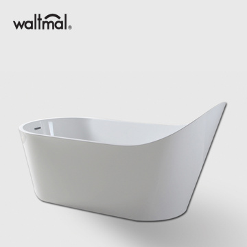 Distinctive White Acrylic Slipper Flat bottom Bathtub