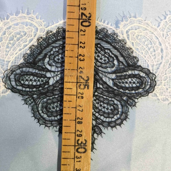 Black Edging Lace Ribbon Trim for Clothing