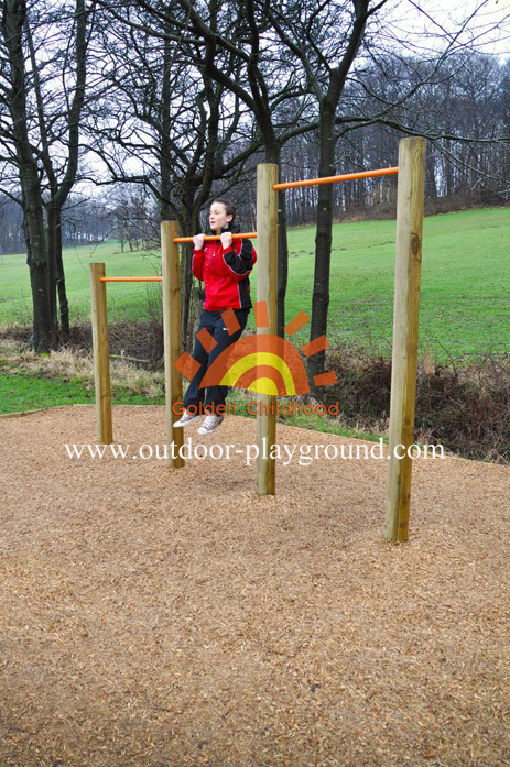 Wooden Uneven Bars Balance Playground For Kids