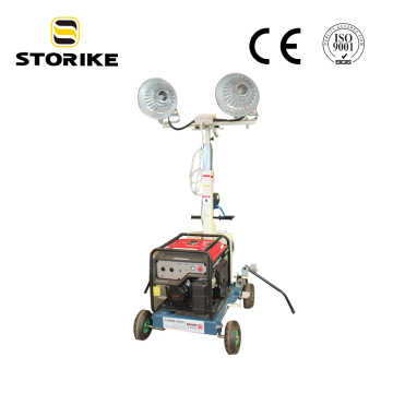 Super Silent  Led Light Tower Without Generator