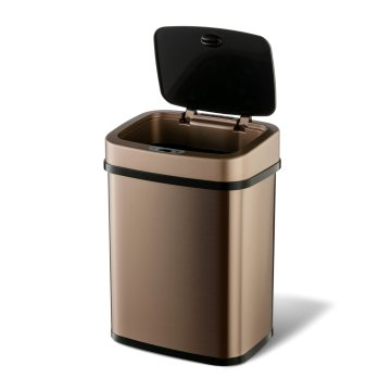 Fashion Indoor Stainless Steel Hotel Electronic Sensor Garbage Can