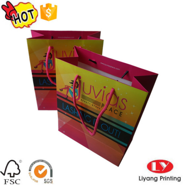 Cheap Full Color Paper Product Packaging Bag