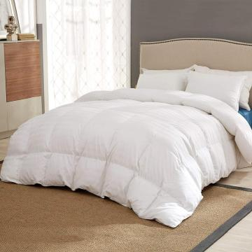 All Season Down Comforter White Cotton Shell