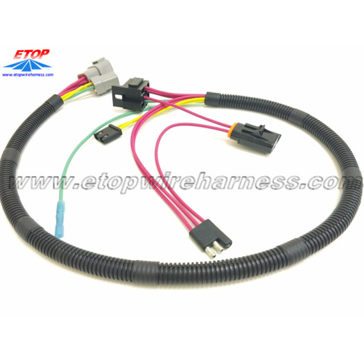 auto harnesses with 3pin flat trailer battery connector