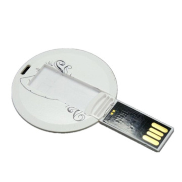 Thin Round card Shape usb flash drive