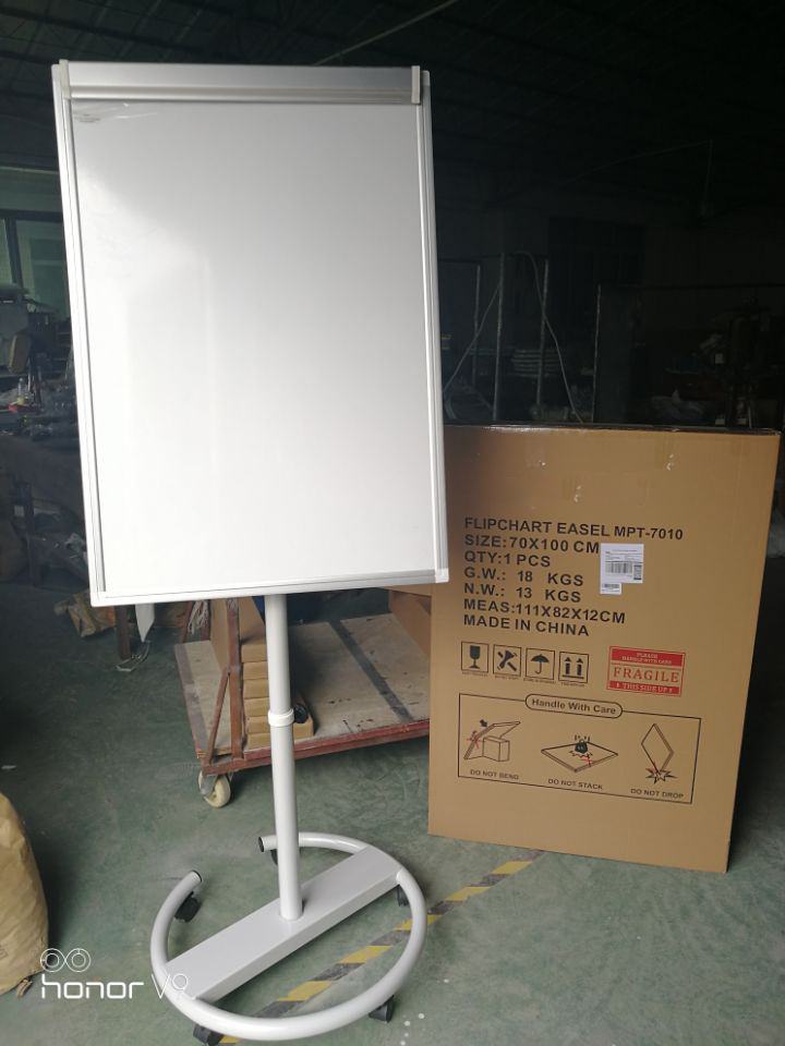 true photo of whiteboard in storehouse