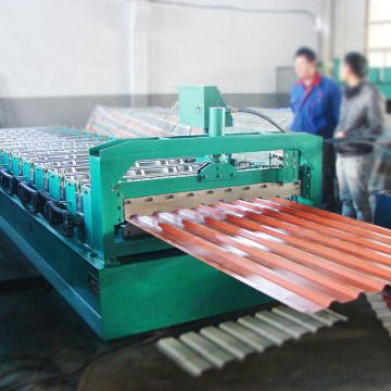 Factory price one year warranty arch steel roof machine