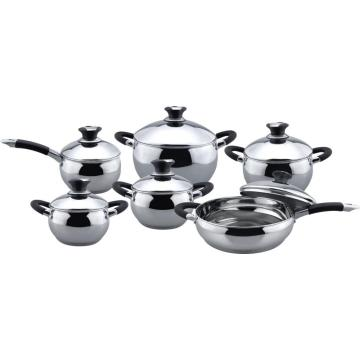 Classic apple shape 12pcs cookware set