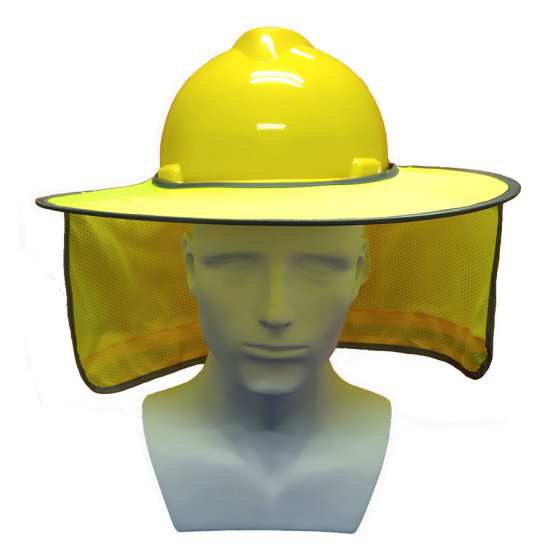Neck Shield Full Brim Sunshade for Hard Hat