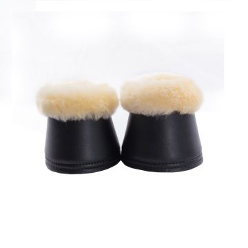 Synthetic Leather Sheepskin Bell Boots