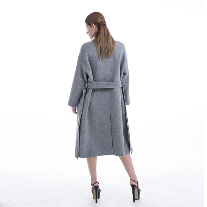 New grey cashmere overcoat