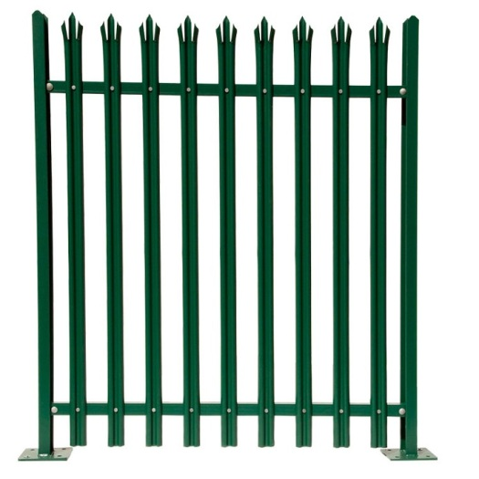 2.1m D section Galvanized and metal security palisade fencing