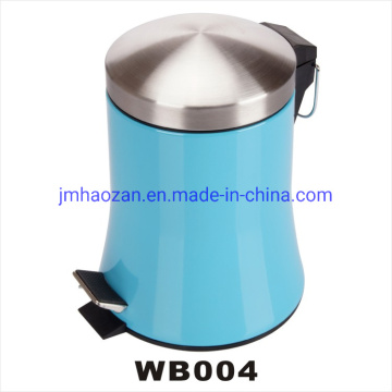 Stainless Steel Colored Skirt Shape Body Pedal Dustbin, Wastebin