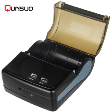 Black portable bluetooth mini printer for smart phone