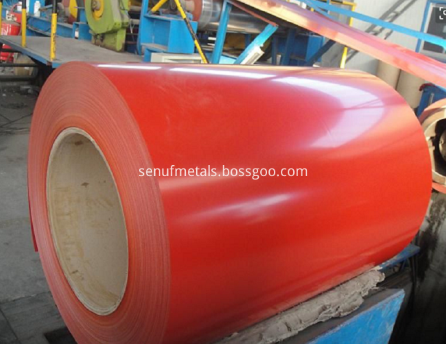 Color Coated Steel Sheet Red