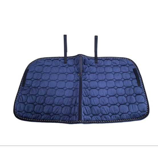 High Quality Velour Quilting Saddle Pad with Cord