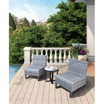 3pcs Aluminum rattan sofa with quickdry foam inside