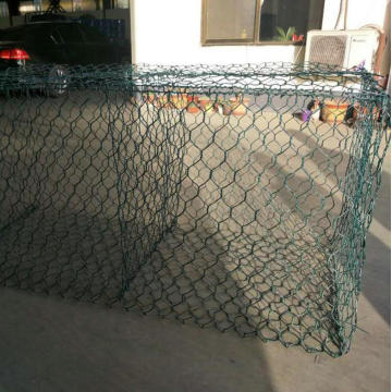 PVC Coated Hexagonal Woven Mesh Gabion Wall
