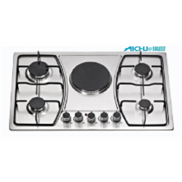 Built-in 5 Burners Gas And Electric Cooker