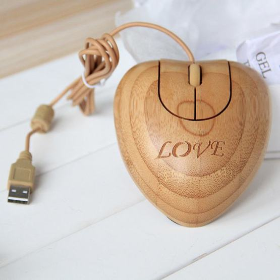 Bamboo Computer Office Mouse
