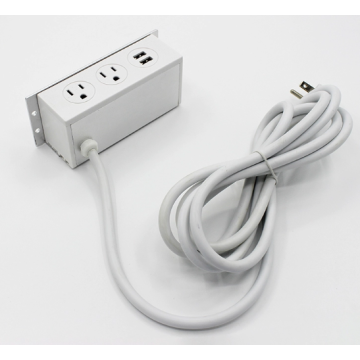 Under desk USB ports power outlet