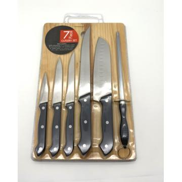7pcs knife board set