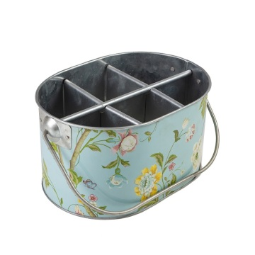 Decal Vintage Flowers Ice Bucket Tub