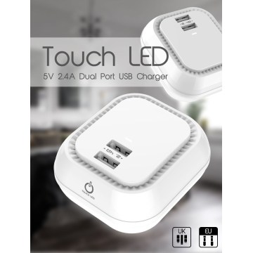 LED USB Charger For Phone 5V2.4A  Charger