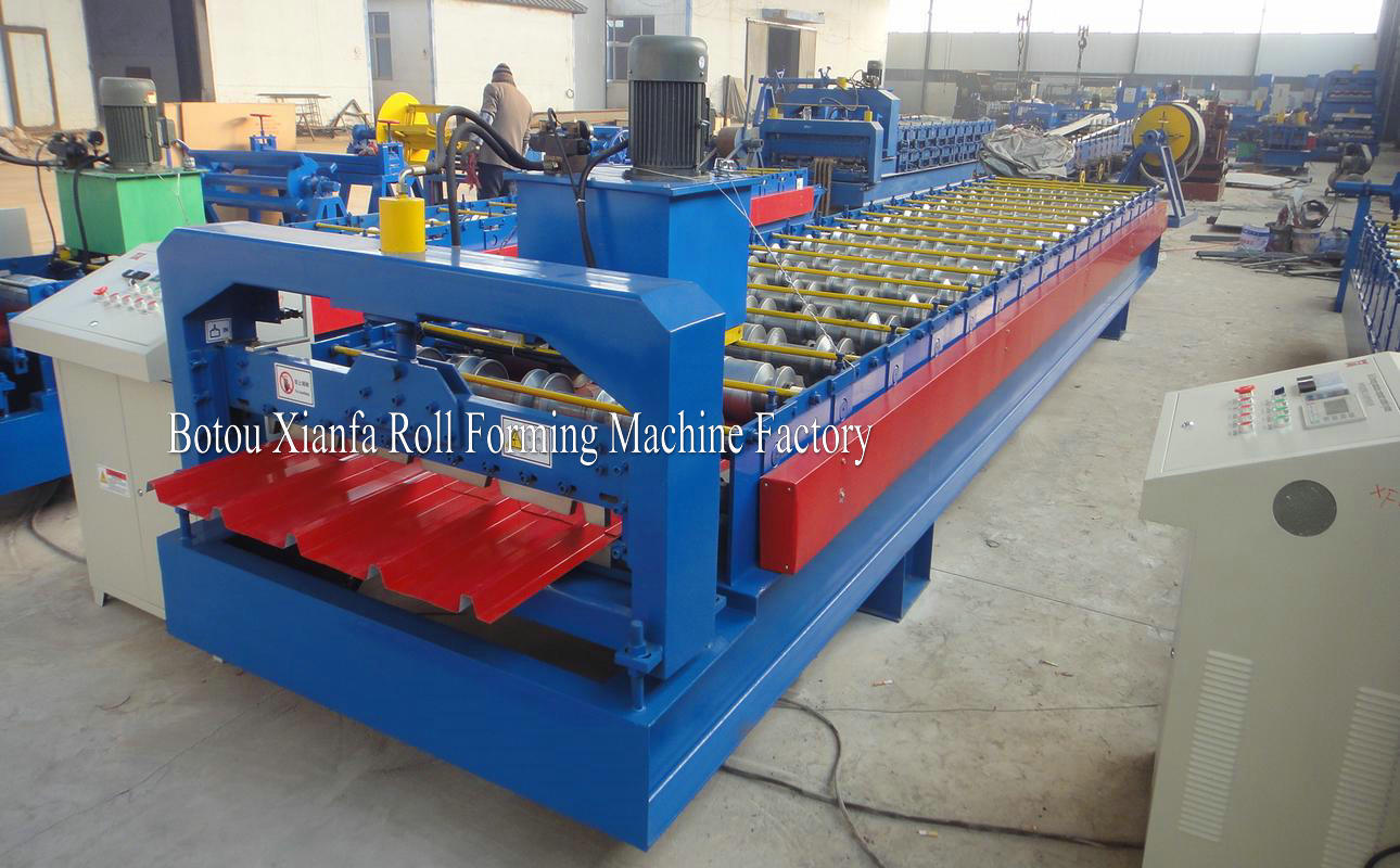zinc pbr panel roof panel forming machine