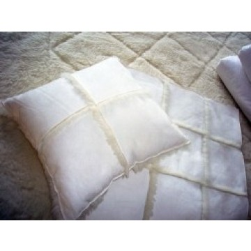 Wool Stitched Cushion Fabric Faux Fur