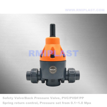 PVDF Safety Valve PN10 For Chemical