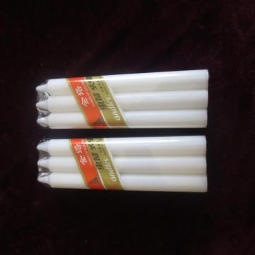 Daily Use thin Pillar Wax White Candle