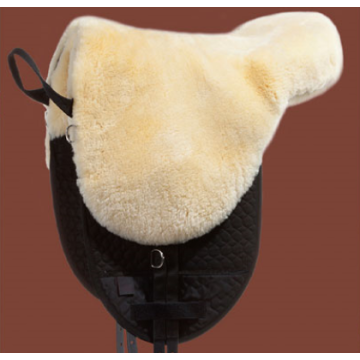 Genuine sheepskin luxury saddle pad