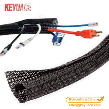 PET Expandable wrap braided cable sleeving